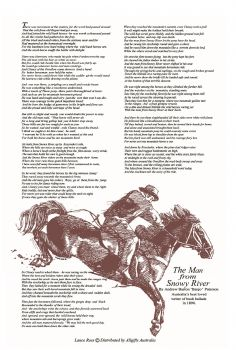 Tea Towel - Man From Snowy River
