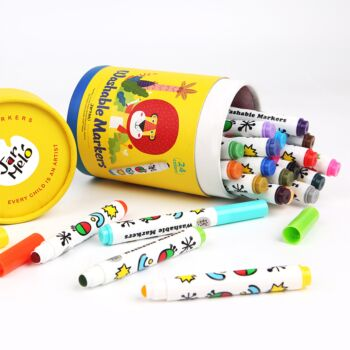 SPECIAL ROUND TIP WASHABLE MARKER -24 COLORS