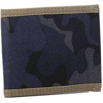 Blue Men'S Canvas Camo Wallet