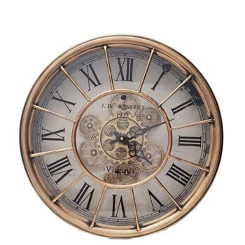 Round Basset Wall Clock Copper