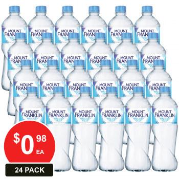 24 Pack, Mount Franklin 600ml Spring Water