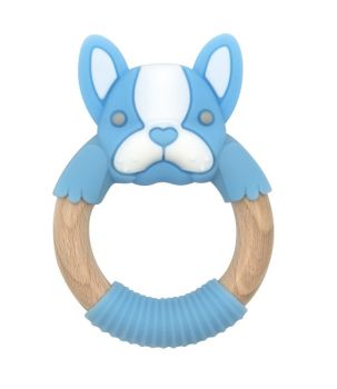 BibiBaby Teething Ring - Freddie Frenchy - Blue and White
