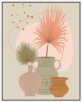 Floating Frame - Palms and Urns -80x100