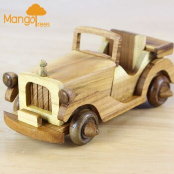 MANGO TREES Wooden Classic Vintage Toy Car Type A Handmade GP609