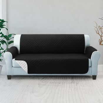 Artiss 1 2 3 Seater Sofa Cover Quilted Couch Covers Lounge Protector Slipcovers Black