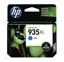 HP No. 935XL Cyan Ink Cartridge - Estimated Page Yield 825 pages - C2P24AA