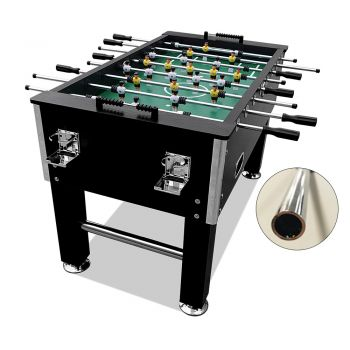 5FT Foosball Soccer Table with Hollow Steel Rods Black