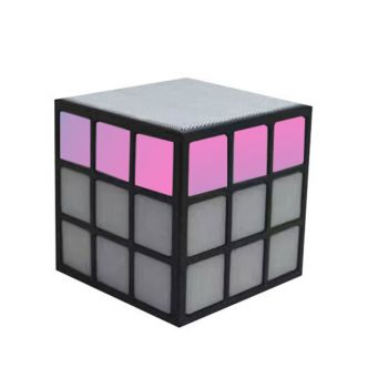 LED Portable Cube Speaker - Black