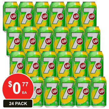 24 Pack, Schweppes 375ml 7up Cans
