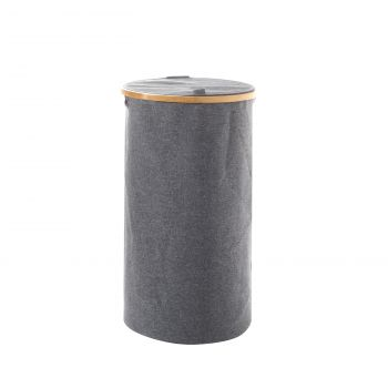 Sherwood Linen & Bamboo Round Long Laundry Bag with Cover 38*38*67cm