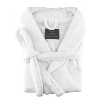 Small/Medium Egyptian Cotton Towelling Bath robe Unisex in White
