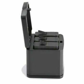 For GoPro Hero 5/6/7/8 Multi-function Battery Dock Storage Charging Box 3in1