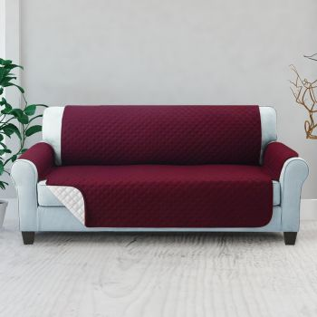 Artiss 1 2 3 Seater Sofa Cover Quilted Couch Covers Lounge Protector Slipcovers Red