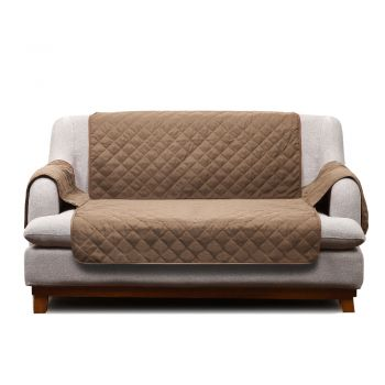 2 Seater Sofa Covers Quilted Couch Lounge Slipcovers in Ginger