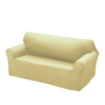 Easy Fit Stretch Couch Sofa Slipcovers 2 Seater in Cream