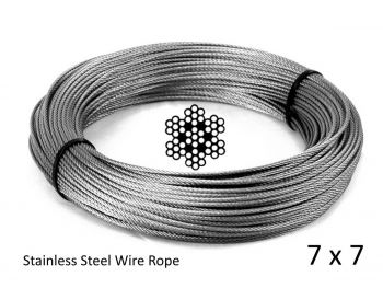 2.4mm 7x7 G316 Stainless Steel Wire Rope