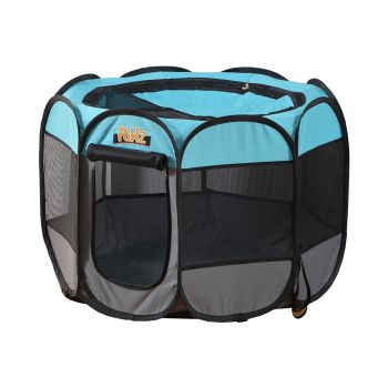"""PaWz Portable Foldable Pet Playpen Tent Cage Crate 36"""" in Navy"""