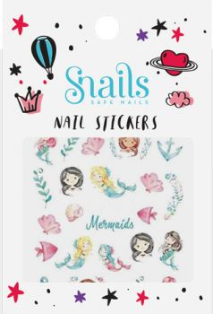 Snails Mermaid nail stickers