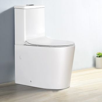 Cefito Toilet Suite Back to Wall Soft Close Seat Cover Ceramic Bathroom WELS