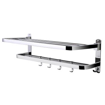 Wall Mounted Bathroom Towel Stainless Steel Rail Rack