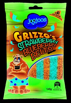 GRIZZO'S STRAWBERRY BLUEBERRY BELTS 160 x 12