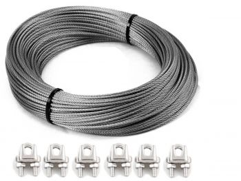 Bore Pump Wire 1366.4kg Grips 7x19 G316 Stainless Steel