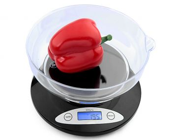 2Kg Kitchen Scale With Bowl Lcd Display 1G Graduation 2000G