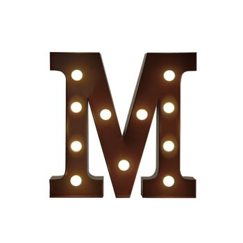 LED Metal Letter Free Standing Hanging Lights Marquee Event Party Decor Letter M