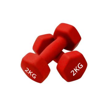 Verpeak Dumbbell Set Neoprene Weights, Anti-Slip with Cast Iron Core, for Home Gym Fitness Weightlifting Toning 2x 2KG