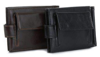 Brown 2 Fold Money Clip Wallet