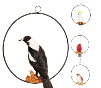 Australiana Birds With Hanging Ring 30X13X37cm - 4 Assorted Designs