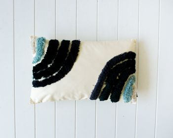 Tufted Cushion - Ocean Double Rainbow - 50x30