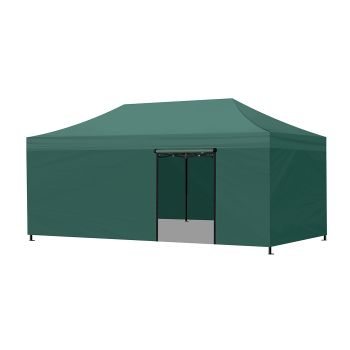 Mountview Foldable Pop Up Gazebo Canopy 3x6M in Green Colour