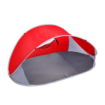 Mountview Pop Up Portable Camping Beach Tent in Red Colour