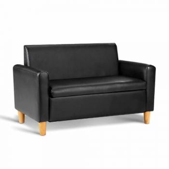 Kids Double 2-Seater Couch Sofa - Black