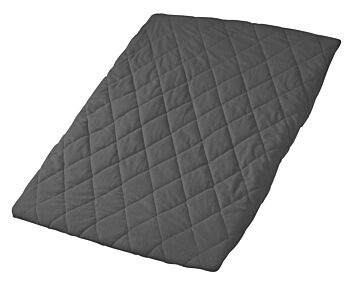 Quilted Travel Cot Fitted Padded Sheet Charcoal