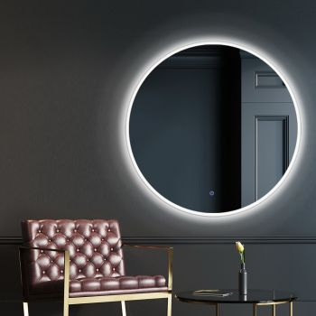 Embellir LED Wall Mirror Bathroom Light 80CM Decor Round decorative Mirrors
