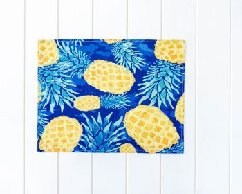 Placemat - Linen Look - Summer Blue Pineapple - 42x33cm (MIN 3)