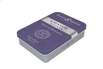 "100g/3.5 oz Lavender Soap in a""Lavande Altitude"" metallic box"