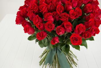 99 Roses Big Red Rose Bouquet