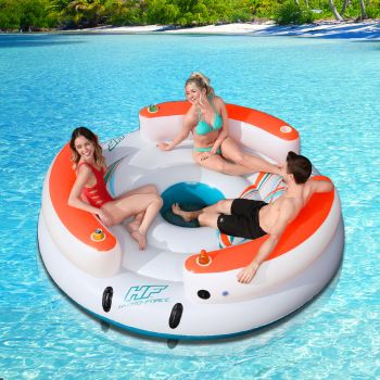 Bestway Inflatable Floating Water Float Pool Lounge Island Swimming Chair Beach