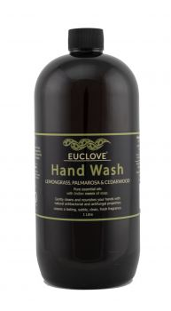 Euclove Handwash Palmarosa, Lemongrass & Cedarwood 1 litre refill Carton of 3 pieces