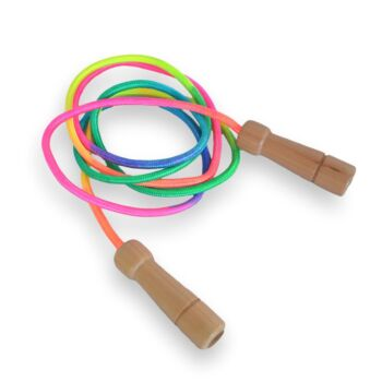 Daju Kids Skipping Rope - Adjustable Length with Wooden Handles