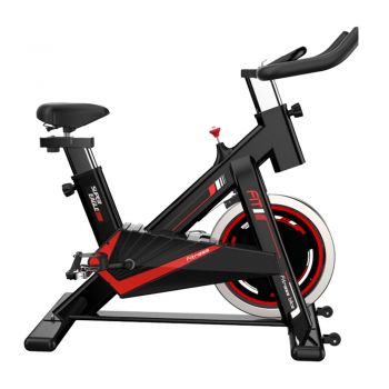 JMQ FITNESS 6104 Indoor Cycling Exercise Spin Bike for Professional Cardio Workout Home Red