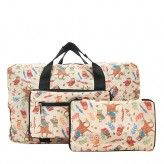 Eco Chic Beige Owl Holdall Bag