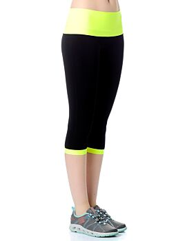 Jerf- Womens-Patras - Black and Neon Yellow - Active Tight