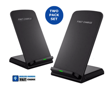 2-Pack Orotec NexGen 10W Fastcharge Wireless Charging Stand