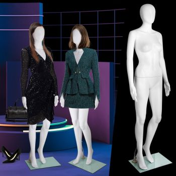 Full Body 175cm Female Mannequin Head Hair Torso Clothes Display Dress Showcase