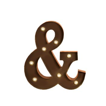 LED Metal Letter Free Standing Hanging Lights Marquee Party Decor Symbol And