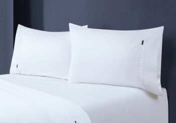 Single Bed 1000TC Egyptian Cotton Fitted Sheet with Pillowcase Pack in White